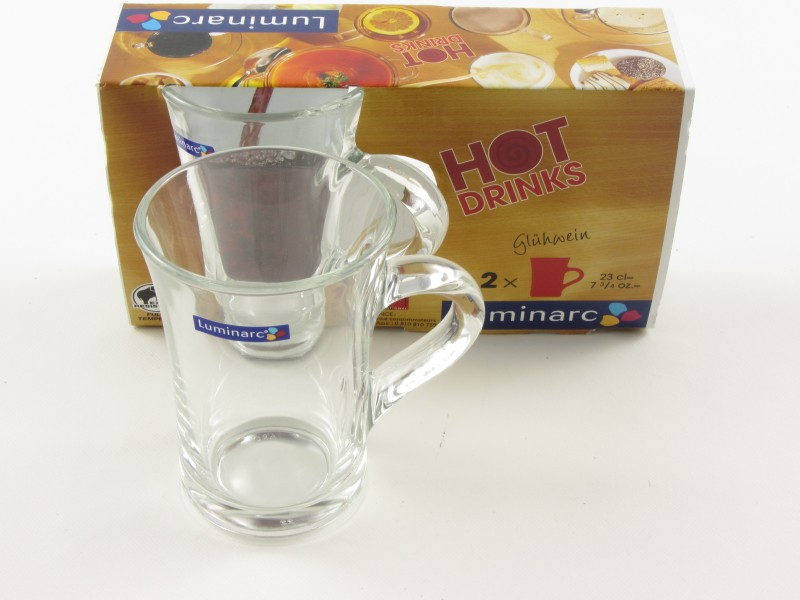 Teás bögre 2,3 dl - Luminarc Hot Drinks (2 db-os) - színtelen