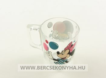 Üveg gyermek bögre - Disney Minnie Mouse Party (Luminarc)