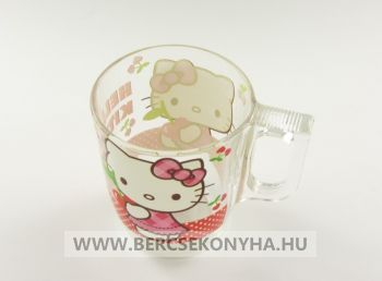 Üveg gyermek bögre - Hello Kitty Cherries (Luminarc)